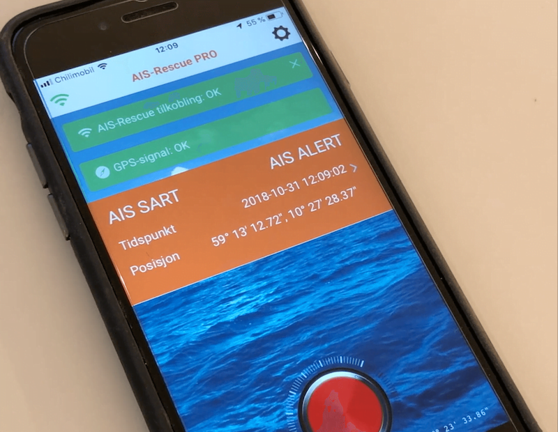 Successful test of the AIS-Rescue app